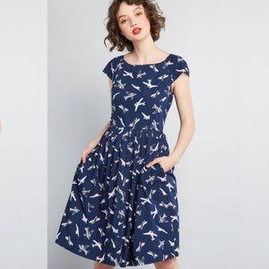 ModCloth unmatched panache midi  dress